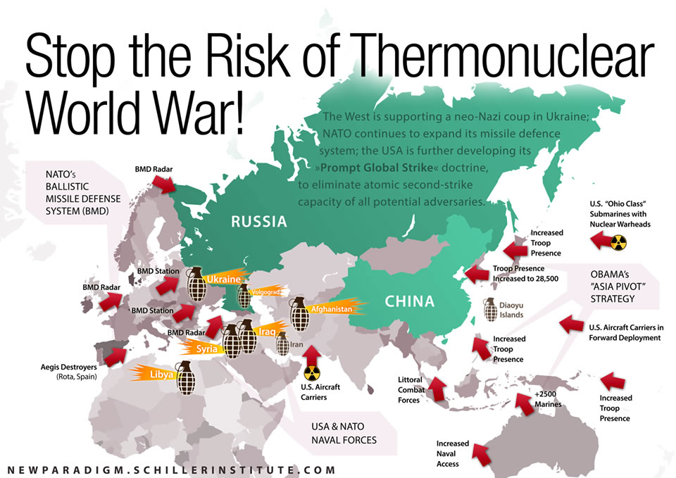 Us Nuclear Warfighting Plan Could Wipe Out The Human Race - Nuclear-war-us-map